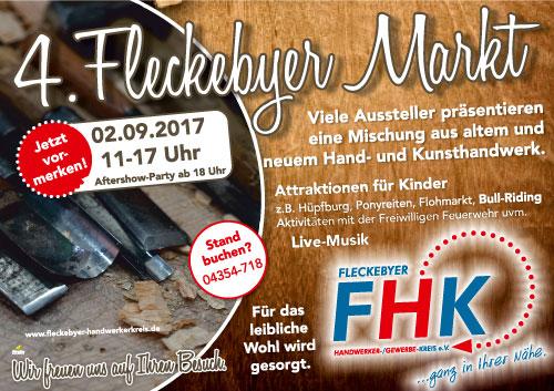 Anzeige Fleckebyer Handwerkermarkt 2017